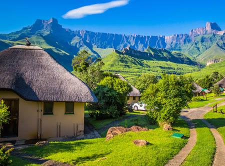 Drakensberg National Park Hut & View