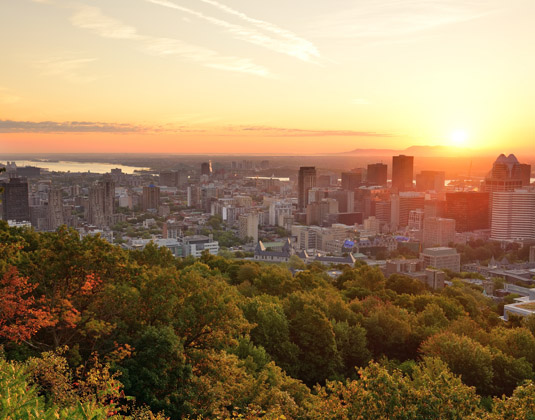 Montreal sunset