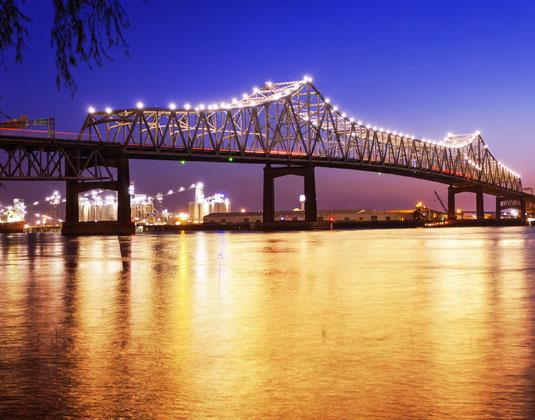 Horace Wilkinson Bridge, Mississippi River