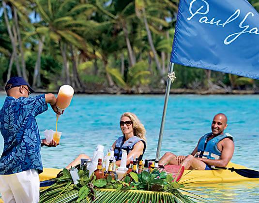 Paul Gauguin Motu Kayak Floating Bar