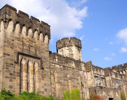 Outer Walls of Historic Eastern State Penitentiary, Philadelphia
