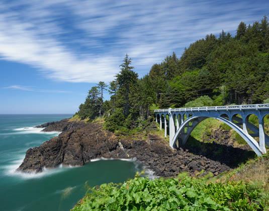 Oregon Coastal Highway near Depoe Bay