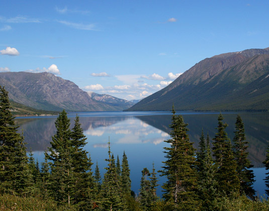 Mountain Lake on South Klondike Highway