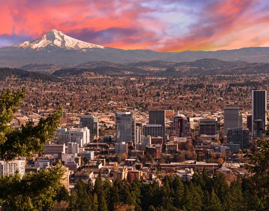 Sunrise View of Portland, Oregon