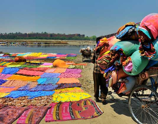 Banks of the river in Agra