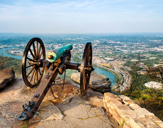 Chattanooga, from Point Park on Lookout Mountain