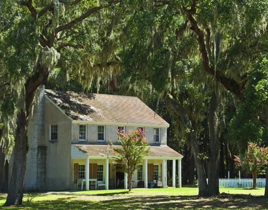 The officer's quarters at the Civil War Era Fort McAllister, Savannah