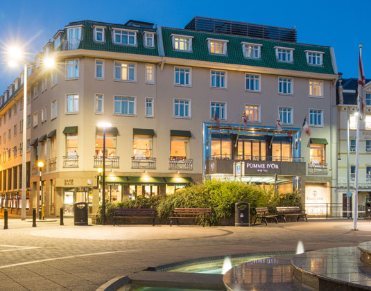 4* Pomme D'Or Hotel, Jersey.