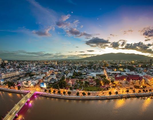 Chiang Mai Cityscape at Twilight