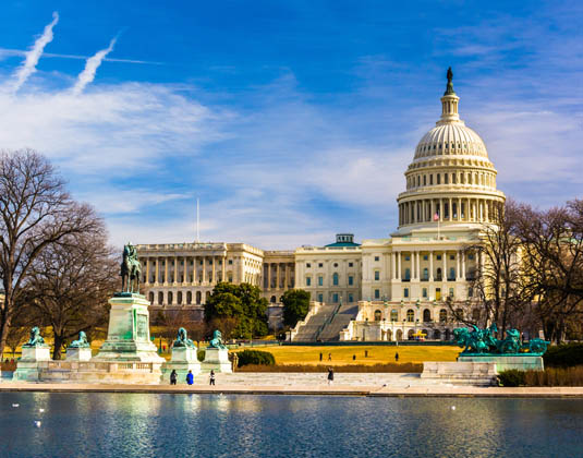 The Capitol and Reflecting Pool in Washington, DC